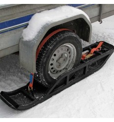 One axle trailer ski