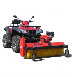 Tapered snow plow for ATV