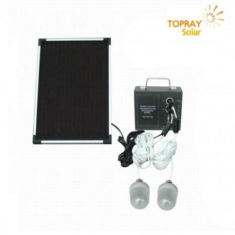 TopRay Kit Illuminazione Portatile Con Pannello Solare