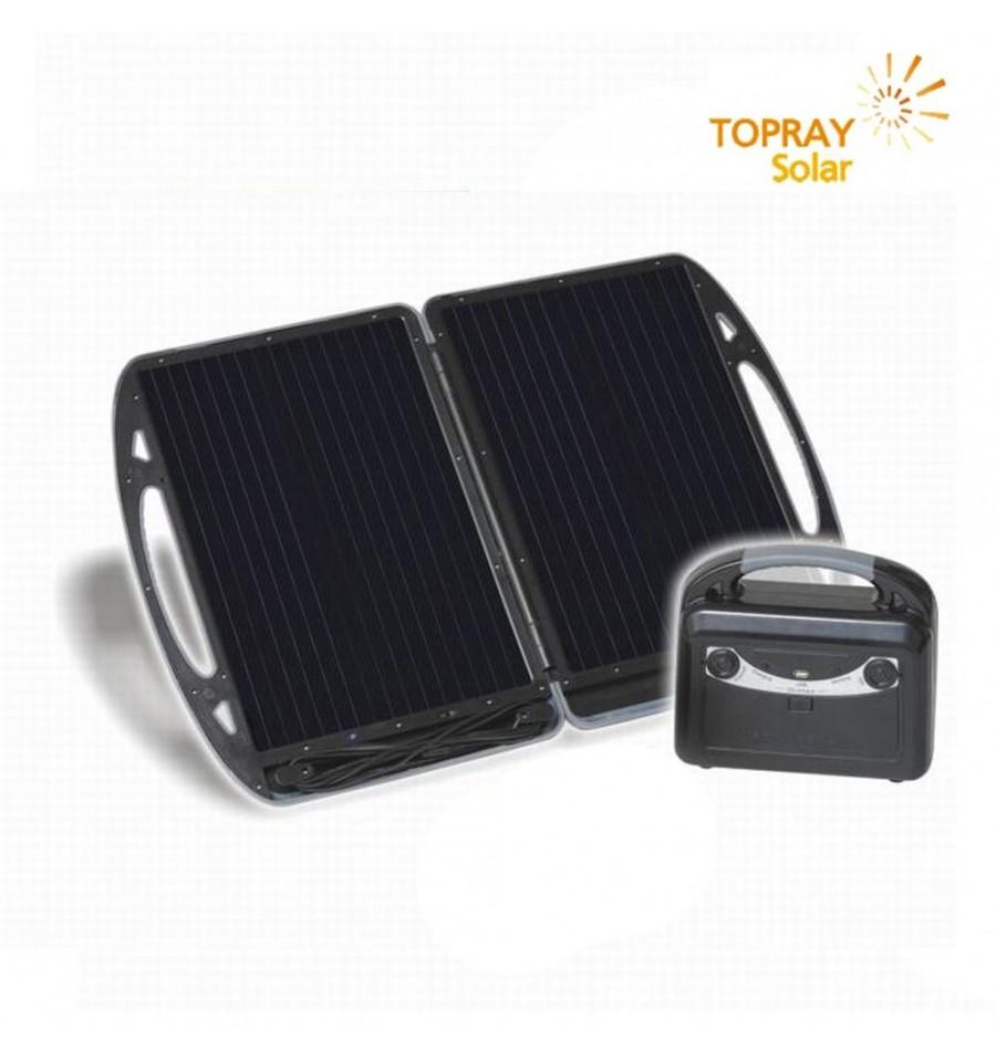 Pannello Solare Portatile Con Batteria : Topray kit batteria portatile con pannello solare