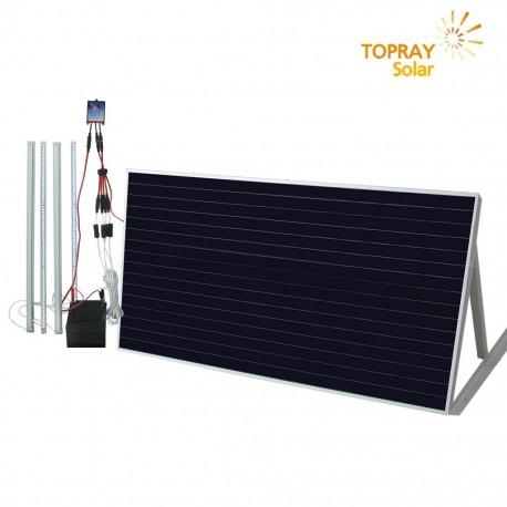 TopRay Kit Illuminazione Permanente Con Pannello Solare
