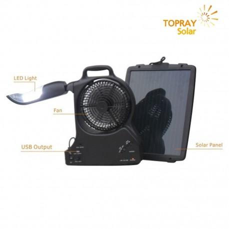 TopRay Lanterna Led Solare Con Ventola